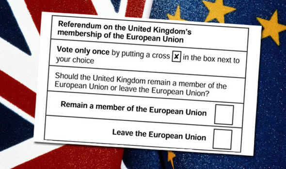 The referendum ballot paper gave UK citizens the chance to vote to leave the EU.